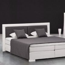 Boxspringbett «Made in Europa», 160×200 cm, weiss