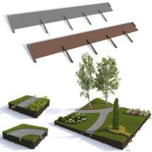 Rasenkanten Set «Profi», 10 Meter