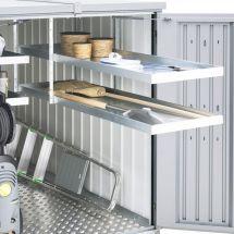 biohort Regalsystem mit 2 Böden «ausziehbar» zu MiniGarage