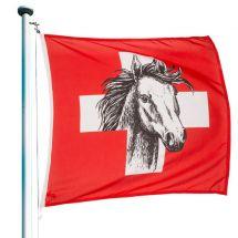 Drapeau Suisse «Cheval»