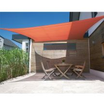 Quadrat-Sonnensegel Parasol «terracotta»