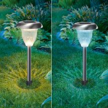 Solarleuchte LED Flower «Duo Color», 2er Set