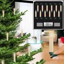 LED Christbaumkerzen mini «Superlight Elfenbein» Basic Set,  Batteriebe