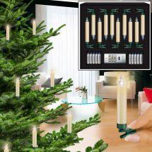 LED Christbaumkerzen normal «Superlight Elfenbein» Basic Set, batterieben