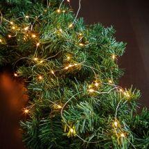 LED Lichterkette «Angel Hair» mit 50 warm-weissen LED, batteriebetrieben