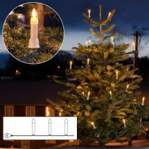 LED Weihnachtsbaumbeleuchtung «One String» mit 16 LED Topbirnen