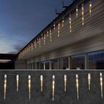 LED 16 Eiszapfen Lichterkette mit 24 sunny-warmen LED