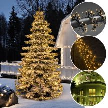 Micro guirlande lumineuse LED en touffe «Cluster» 1536 LED sunny chaudes