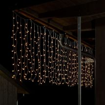 LED Lichtervorhang «Bulb» 200 warm-weissen LED