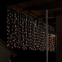 LED Lichtervorhang «Bulb» 400 warm-weissen LED