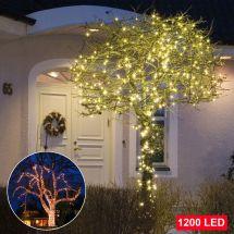 Micro guirlande luminaire LED 1200 LED blanches chaudes