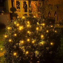 LED Waben-Lichternetz, Grösse 100 x 100 cm 32 sunny-warm LED