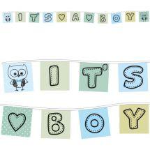 Fahnenkette «It's a Boy»
