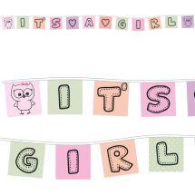 Fahnenkette «It's a Girl»