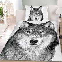 Bettwäsche-Garnitur Renforcé «Wolf»