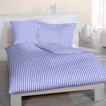 Bettwäsche-Garnitur Seersucker «Kölsch» blau