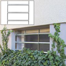 ABUS Fenstergitter zur Selbstmontage, 50-65 × 45 cm, 3 Querstreben