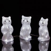 LED Acryl Eulen