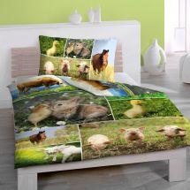 Bettwäsche-Garnitur Renforcé «Bauernhof»