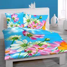 Bettwäsche-Garnitur Renforcé «Blumen»