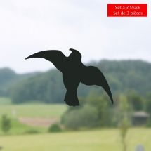 Vogel-Silhouetten «Sticker», Set à 3 Stück