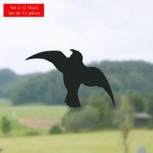 «Sticker» Silhouette Oiseau, set de 12 pièces