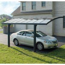 Carport «Bogen» mit transparenten Polycarbonplatten, 2 mm, 495×289×273,5 cm