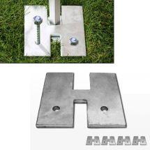 Gewichtsplatten für Faltpavillon Premium & Professional, 4 Stück