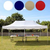 Faltpavillon, 6×3 Meter, «Premium-Straight» ohne Seitenteile