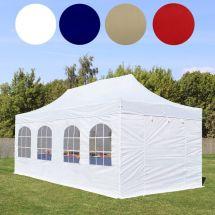 Faltpavillon, 6×3 Meter, «Premium-Straight» mit Seitenteile