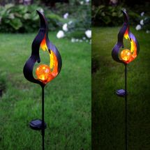 Solar LED Standleuchte «Firelight»