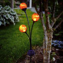 Solar LED Standleuchte «Amber Balls»