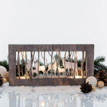 LED Diorama «3D» mit LED Beleuchtung «Bild mit Hirsch Design»