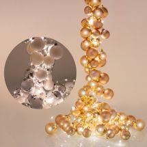 Kugel-Girlande mit LED Beleuchtung «Waterfall»