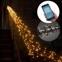 LED Micro-Lichterkette «APP» mit 960 sunny-warmen