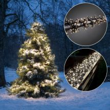 Micro guirlande lumineuse LED en touffe «Cluster» 768 LED blanches chaudes
