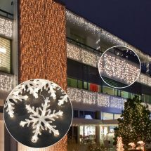 LED Schneeflocken Lichterkette «STAR NEO-ww»