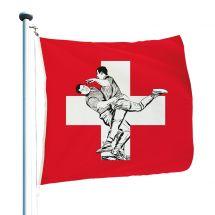 Schweizerfahne «Hoselupf» Superflag® 150x150 cm