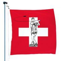 Schweizerfahne «Hornussen» Superflag® 150x150 cm