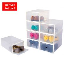 "Schuhboxen ""Stapelbar"", 8er Set"