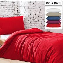 Bettwäsche Duvetbezug «UNI» 200x210, Seersucker
