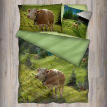 Bettwäsche Garnitur «Kuh», Renforcé