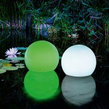 Solar LED Leuchtkugel «Floating» inkl. Fernbedienung 15 cm, 2er Set