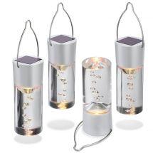 Solar LED Design-Hängeleuchtstäbe, 4er Set