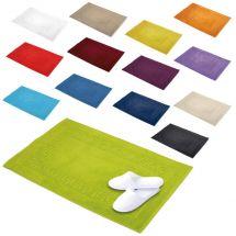 Tissu éponge «Uni» tapis salle de bain 50x80 cm