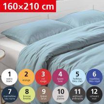 Bettwäsche Duvetbezug «UNI» 160x210, Satin