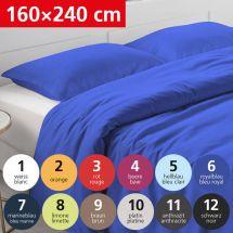 Bettwäsche Duvetbezug «UNI» 160x240, Satin
