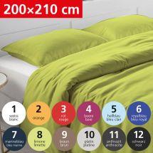 Bettwäsche Duvetbezug «UNI» 200x210, Satin