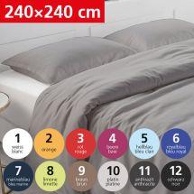 Bettwäsche Duvetbezug «UNI» 240x240, Satin