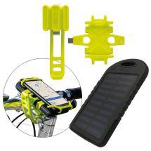 Porte-téléphone mobile de Vélo, incl. Powerbank solaire